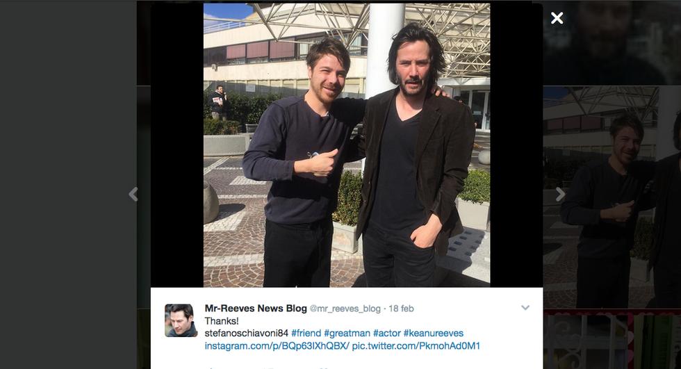 Keanu Reeves al Policlinico Gemelli