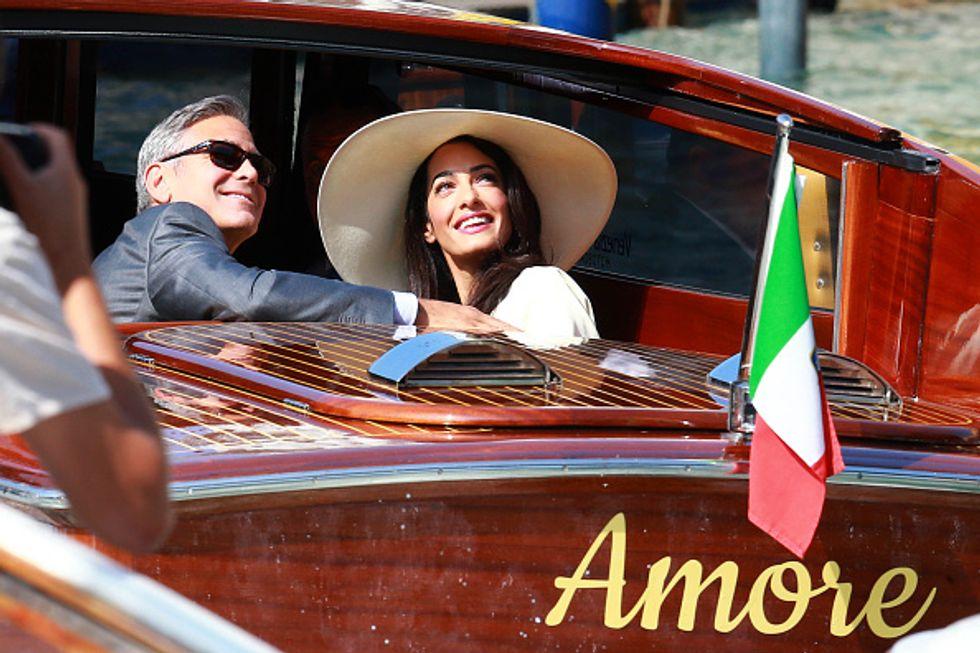 La prima volta in Italia dei gemelli Clooney