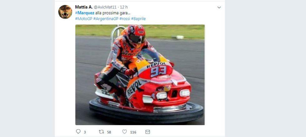 Le reazioni social alla furia di Valentino Rossi verso Marc Marquez