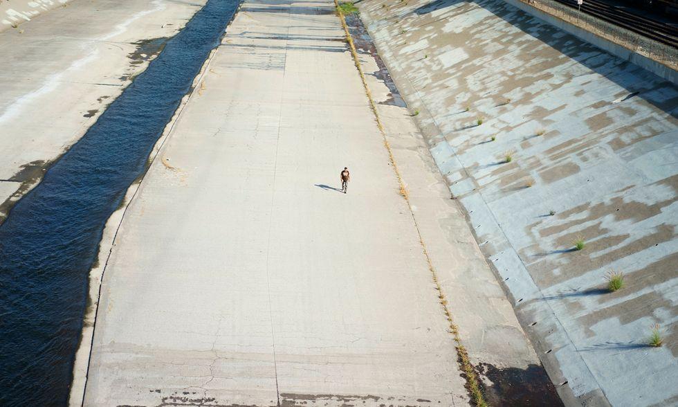 Il letto di cemento del Los Angeles River