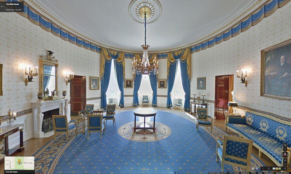 Google Street View nella Casa Bianca
