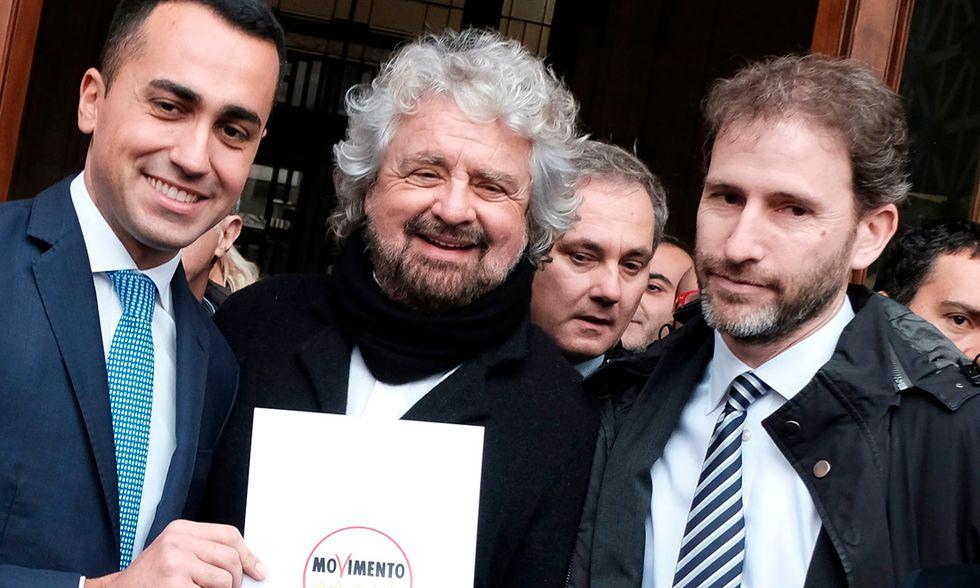 Luigi Di Maio, Beppe Griello e Davide Casaleggio