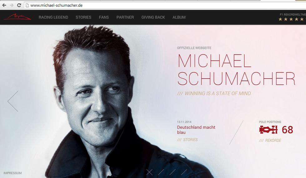 Schumacher, riaperto il sito ufficiale