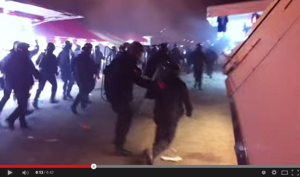 Italia-Croazia: il video degli scontri dopo la partita