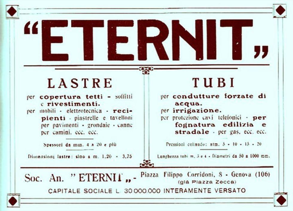 Eternit: la storia del cemento che uccide (1901-2014)