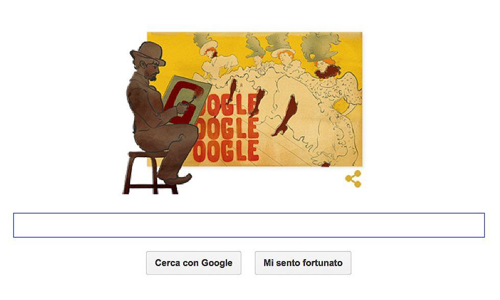 Henri de Toulouse-Lautrec nel Google doodle