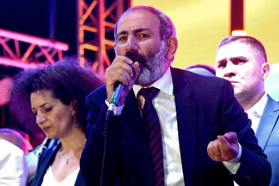 Nikol Pashinyan, il neo eletto premier armeno