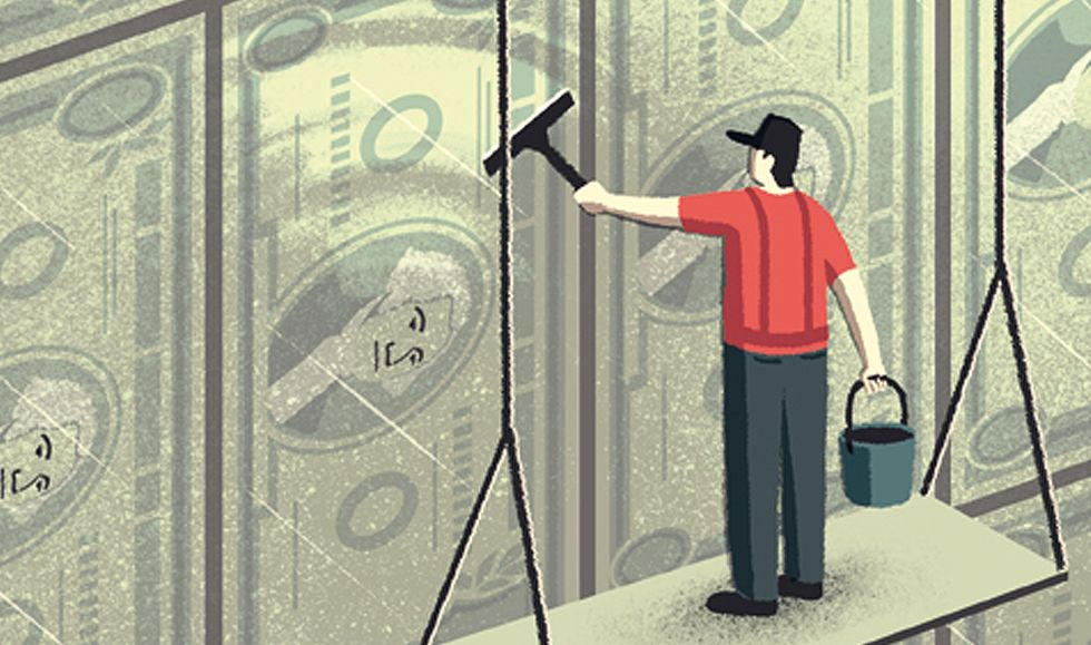 """The Wall Street Journal - """"A New Way to Clean Old Money"""""""