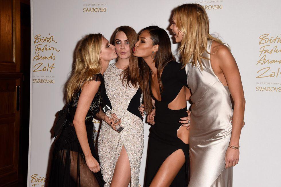 Le bellezze dei British Fashion Awards 2014