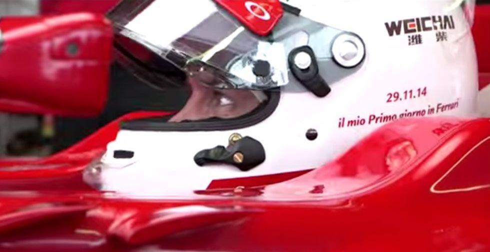 Vettel, il primo giorno in Ferrari