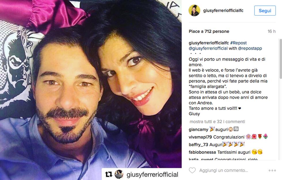 Giusy Ferreri è incinta