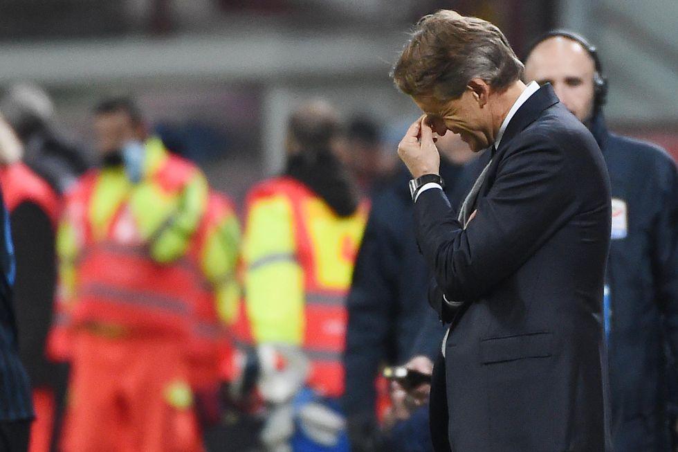 Mancini e l'Inter, crollo senza fine