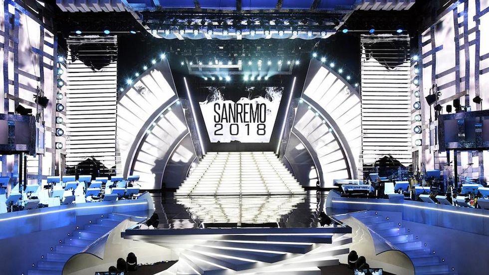 Sanremo 2018 scenografia
