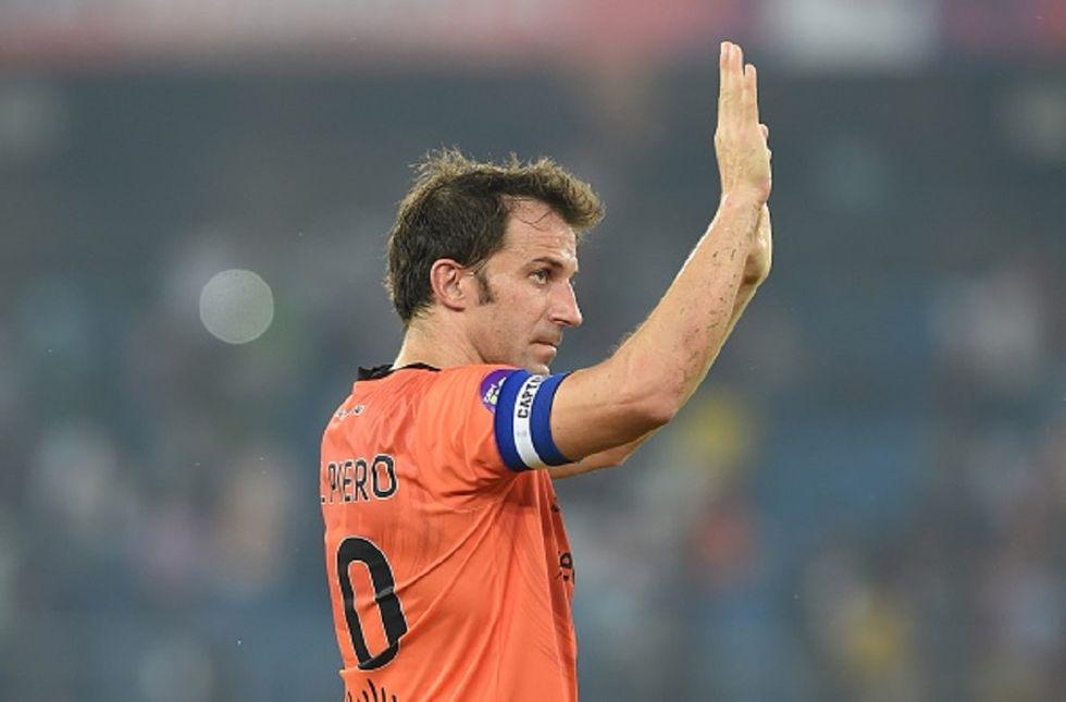 """Del Piero segna su punizione il suo primo gol """"indiano"""""""
