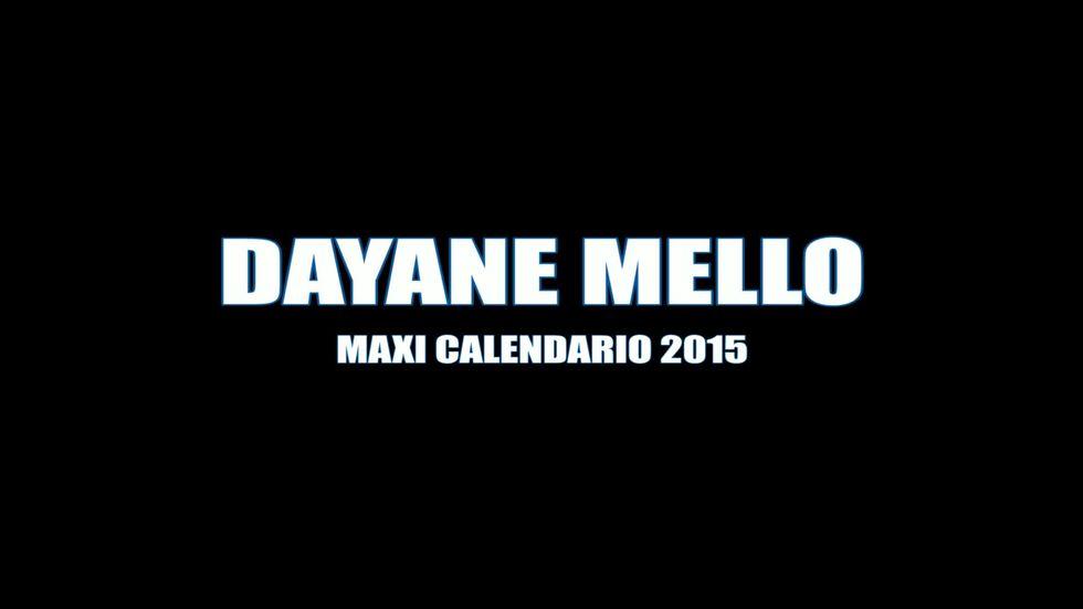 Dayane Mello: il backstage del calendario For Men 2015