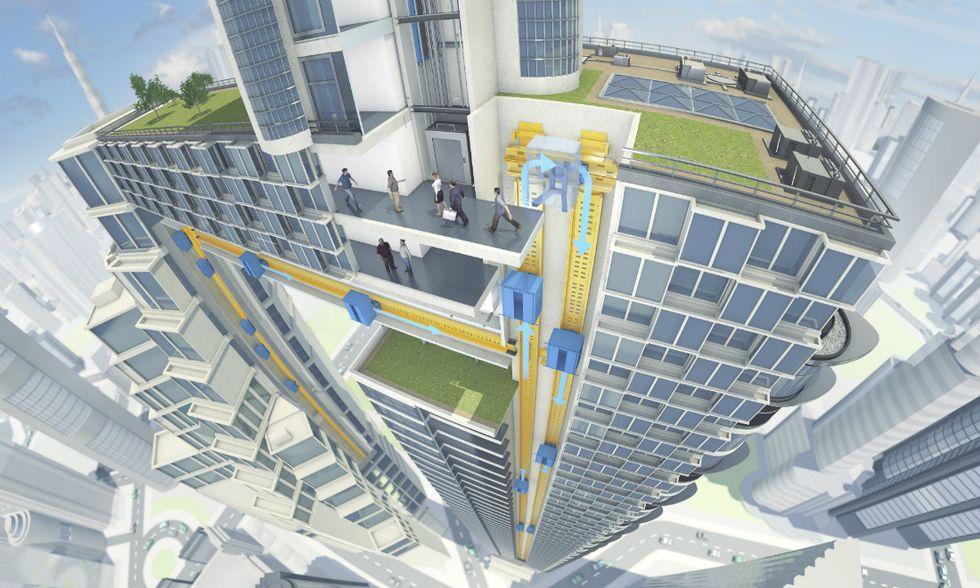 Multi, l'ascensore del futuro è senza cavi