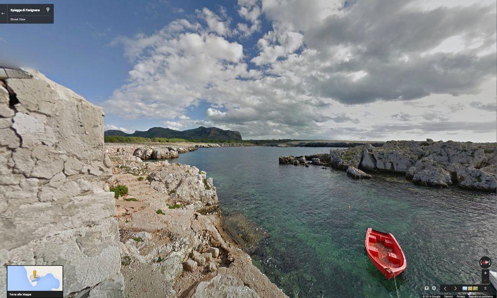 Google Street View sulle spiagge di Favignana