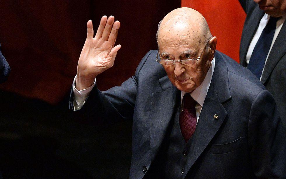 Giorgio Napolitano annuncia la fine del suo mandato