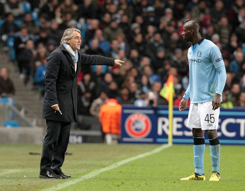 "Mancini: ""Balotelli non ha la classe di Ibrahimovic"""