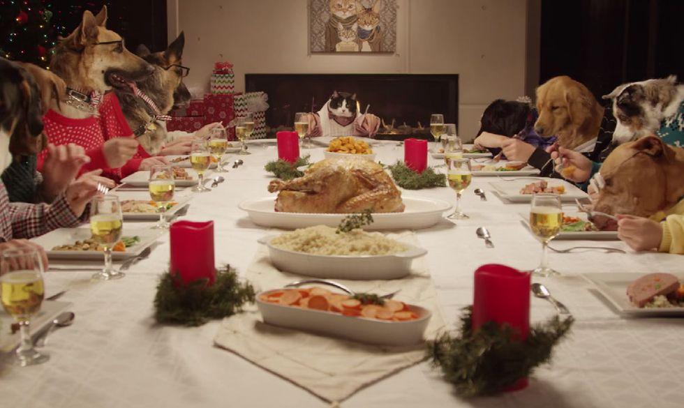 Natale, un pranzo bestiale