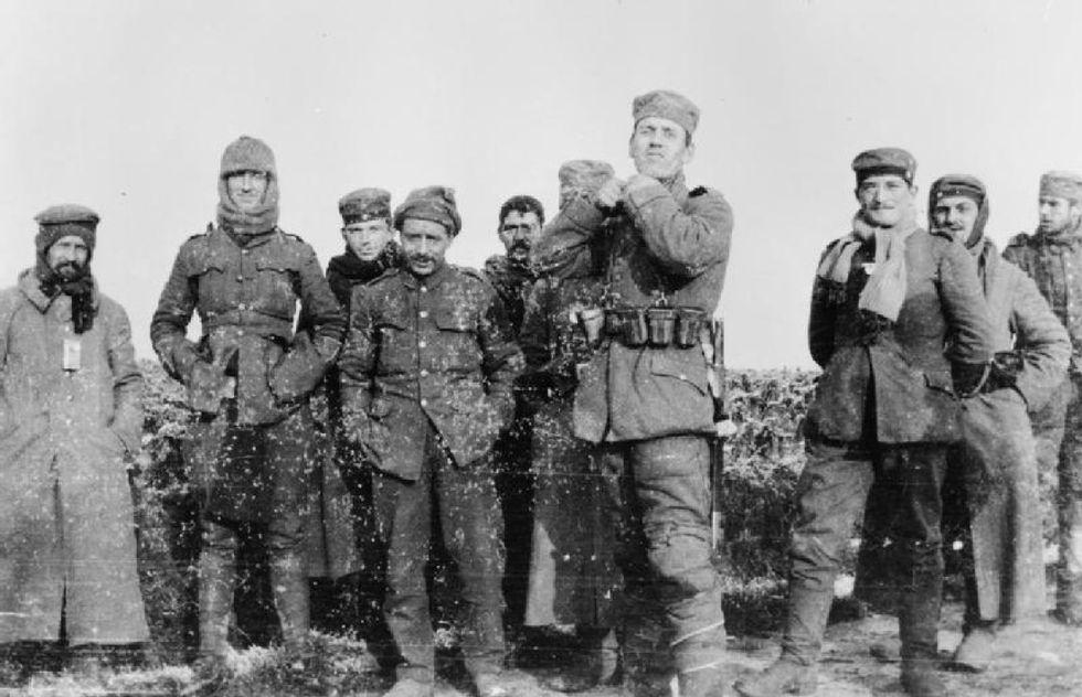 La tregua di Natale sul fronte occidentale, 25 dicembre 1914