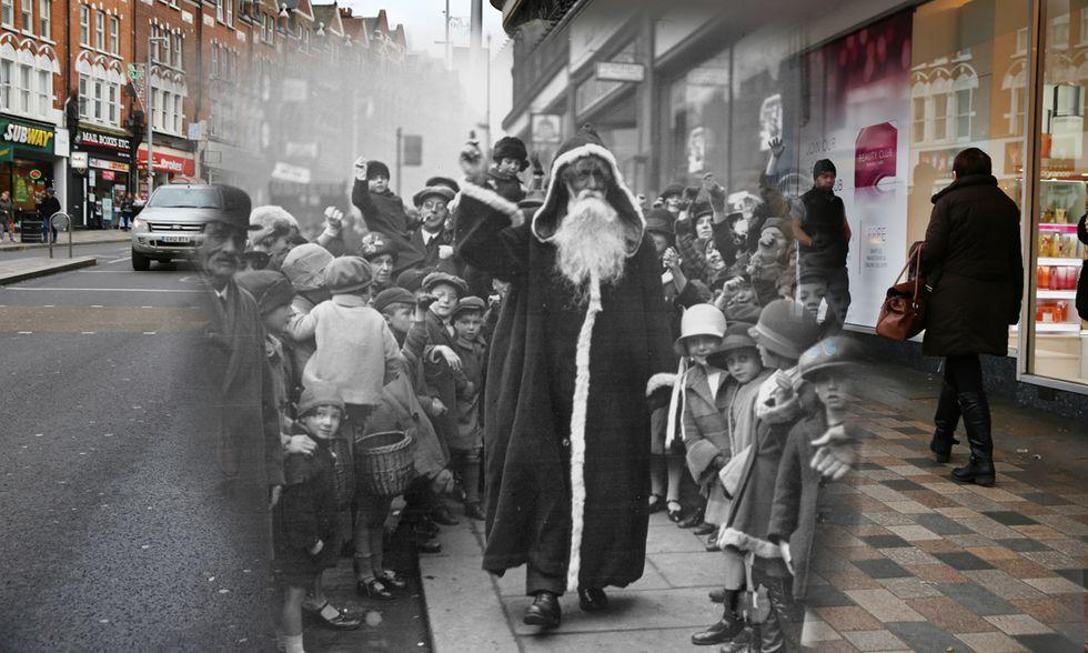 Il Natale per le strade di Londra, ieri e oggi