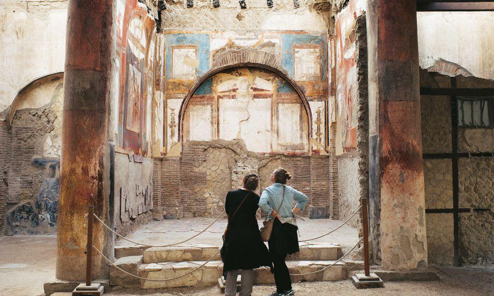 Ercolano salva, Pompei crolla