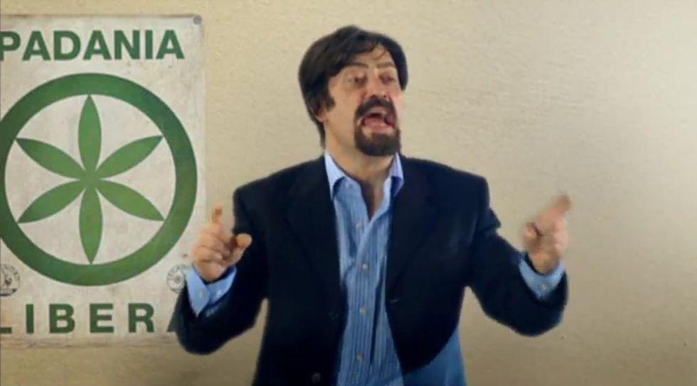 Corrado Guzzanti e la satira sulla Lega
