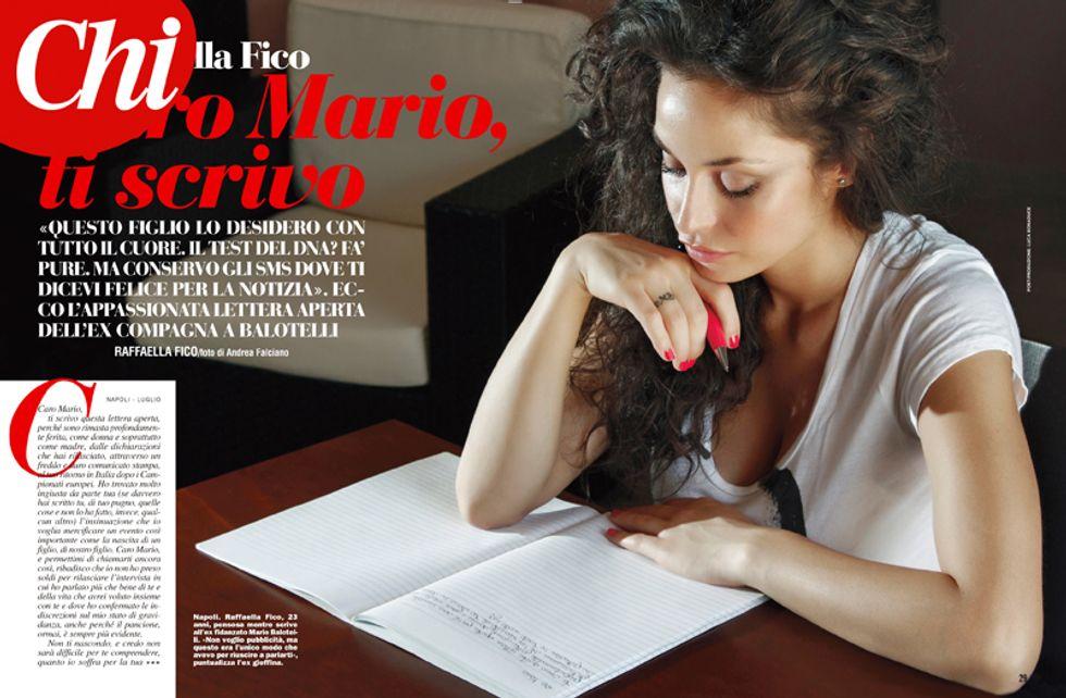 """Raffaella Fico scrive a Balotelli: """"Accetto il test del Dna, questo figlio è il frutto del nostro amore"""""""