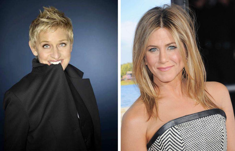 Ellen DeGeneres rifà il look a Jennifer Aniston