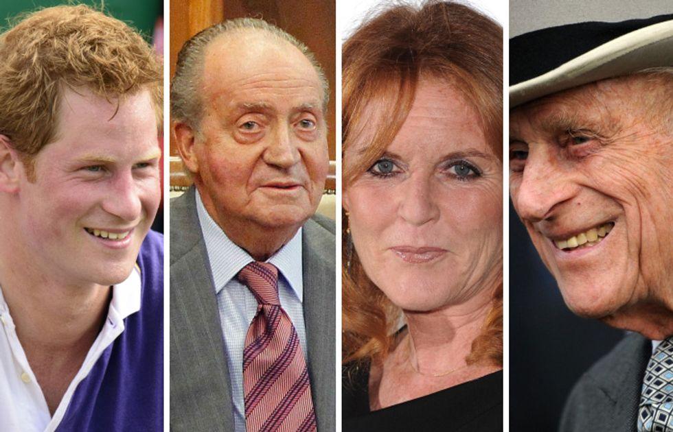 Il principe Harry, Juan Carlos, Sarah Ferguson, il principe Filippo: i campioni degli scandali e delle figuracce reali