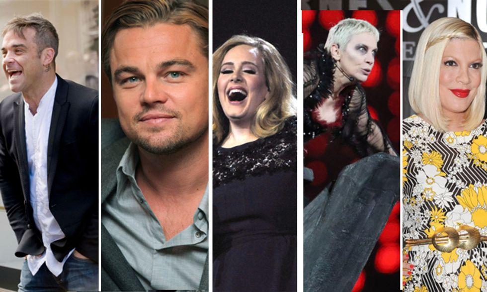 Robbie Williams è divantato papà, Leonardo Di Caprio sul Titanic, Adele diventa stilista, Tori Spelling in ospedale