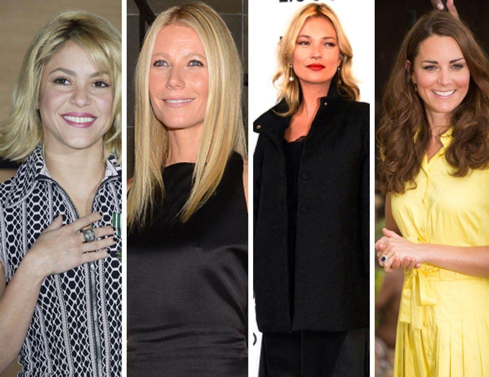Shakira incinta, Kate Middleton e il pancino sospetto mentre Kate Moss bacia il vigile