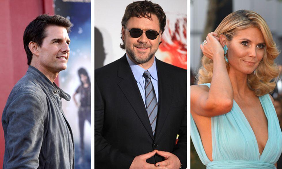 Belen Rodriguez, Russell Crowe, Tom Cruise e altre star: le coppie vip scoppiate nel 2012