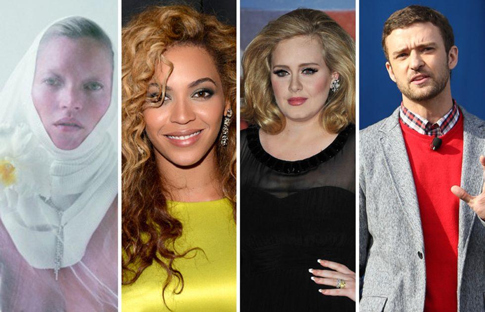 Kate Moss suora nuda mentre Adele viene insultata