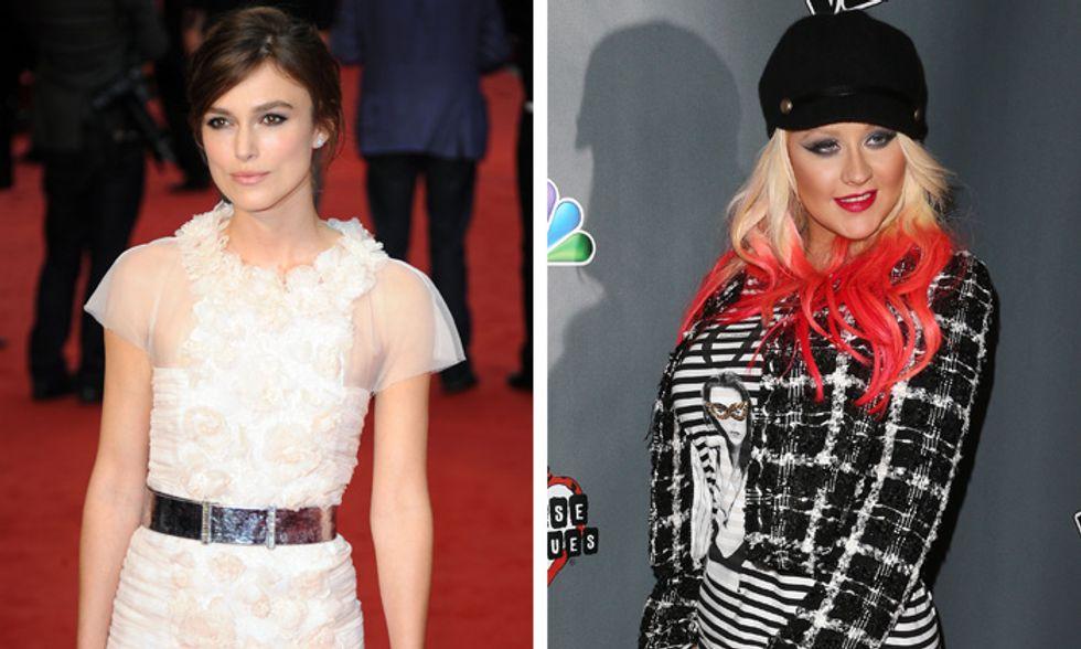 Keira Knightley e Christina Aguilera orgogliose del proprio corpo