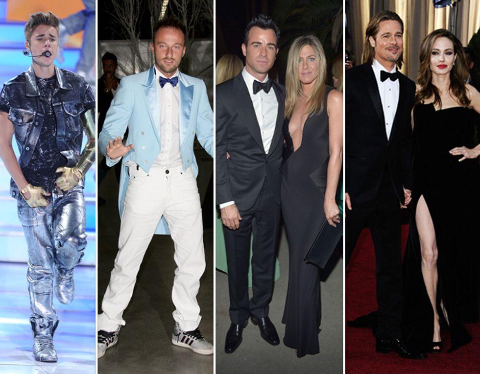 Francesco Facchinetti ironizza sulla sua sessualità mentre Jennifer Aniston si fa massaggiare il seno