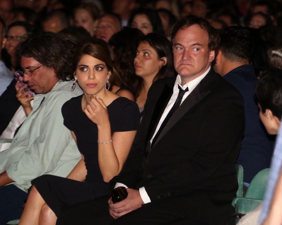 Quentin Tarantino con la fidanzata Daniella Pick