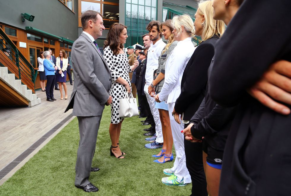 Kate Middleton a Wimbledon veste Dolce & Gabbana