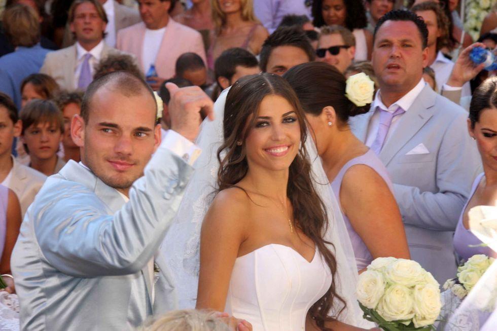 Sneijder, lontano dai campi, lontano da Twitter