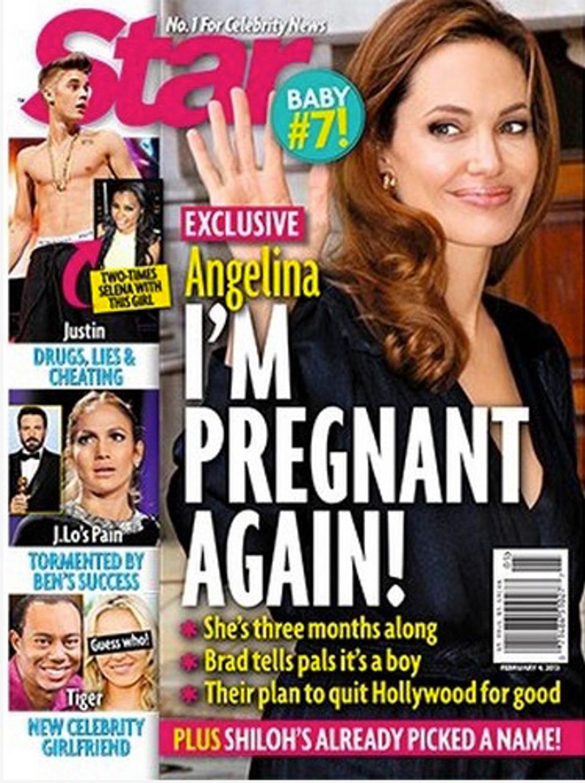 Angelina Jolie incinta per la settima volta
