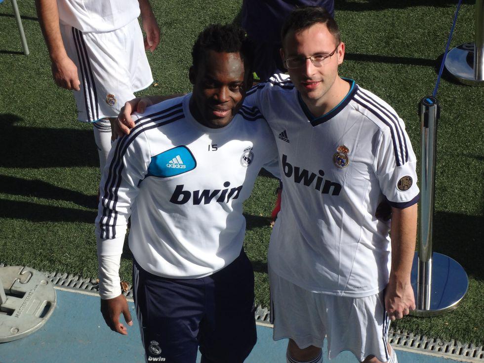 Il mio allenamento con il Real Madrid...