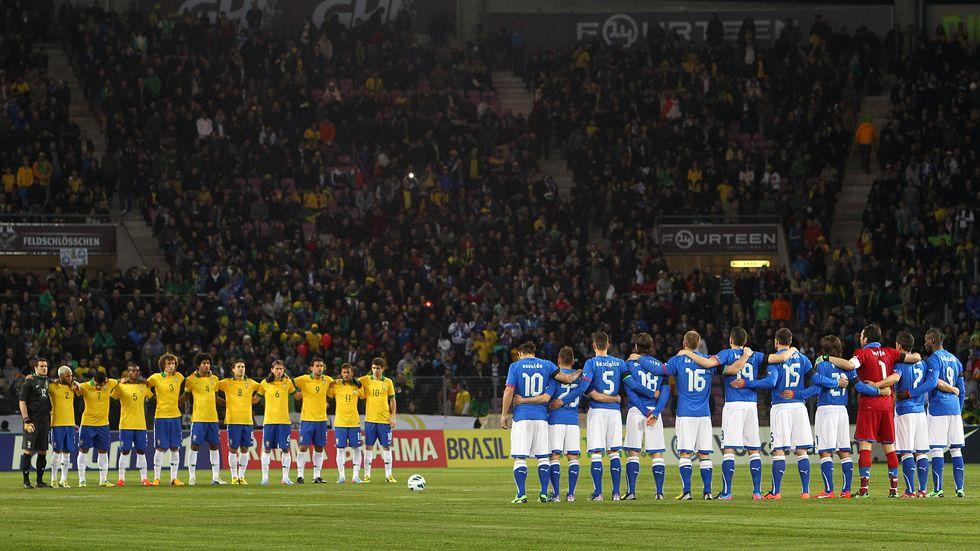 Brasile - Italia 2-2, le immagini più belle