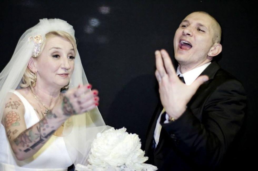 La Pina sposa a sorpresa. Ecco le foto del matrimonio