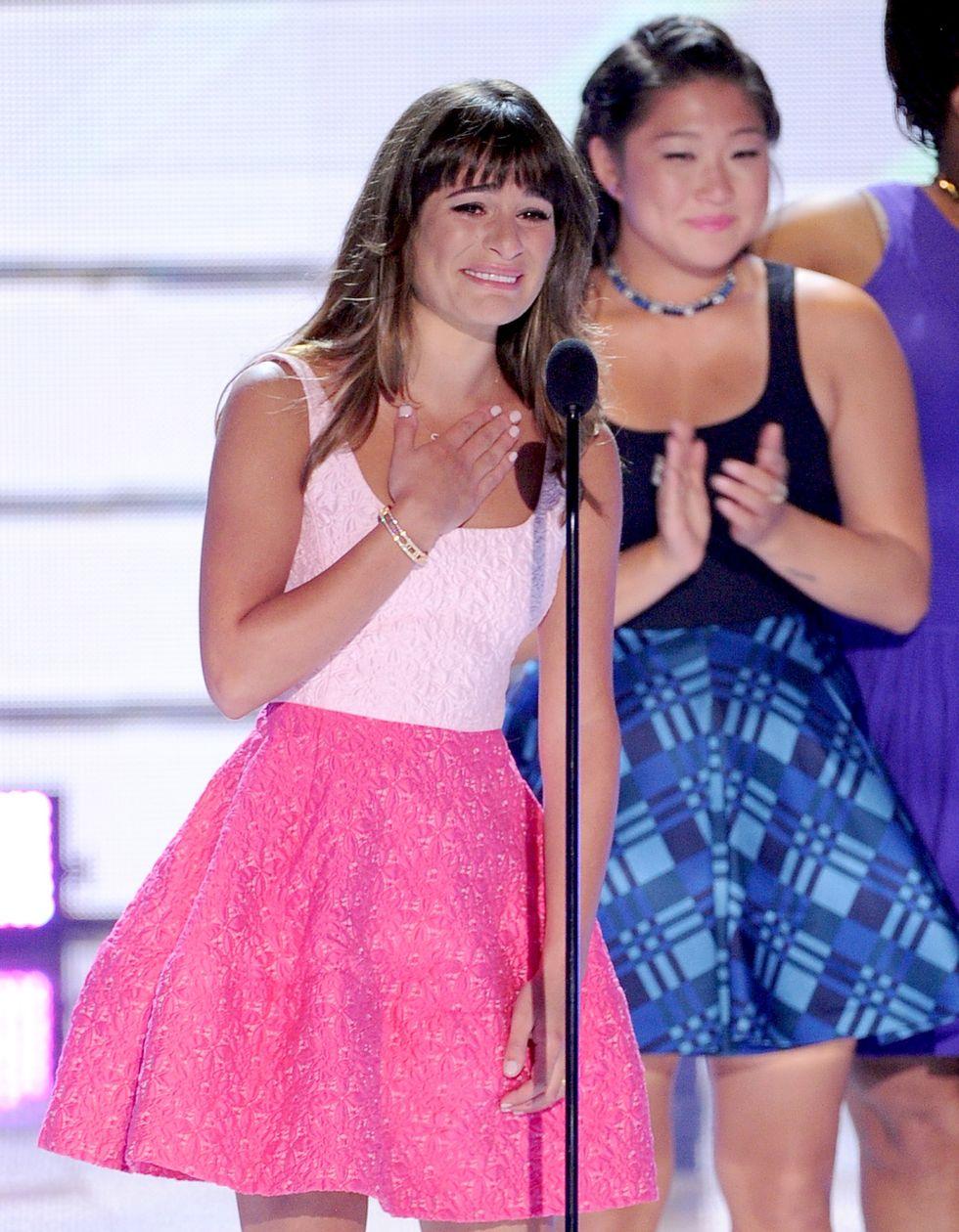Lea Michele, lacrime per Cory