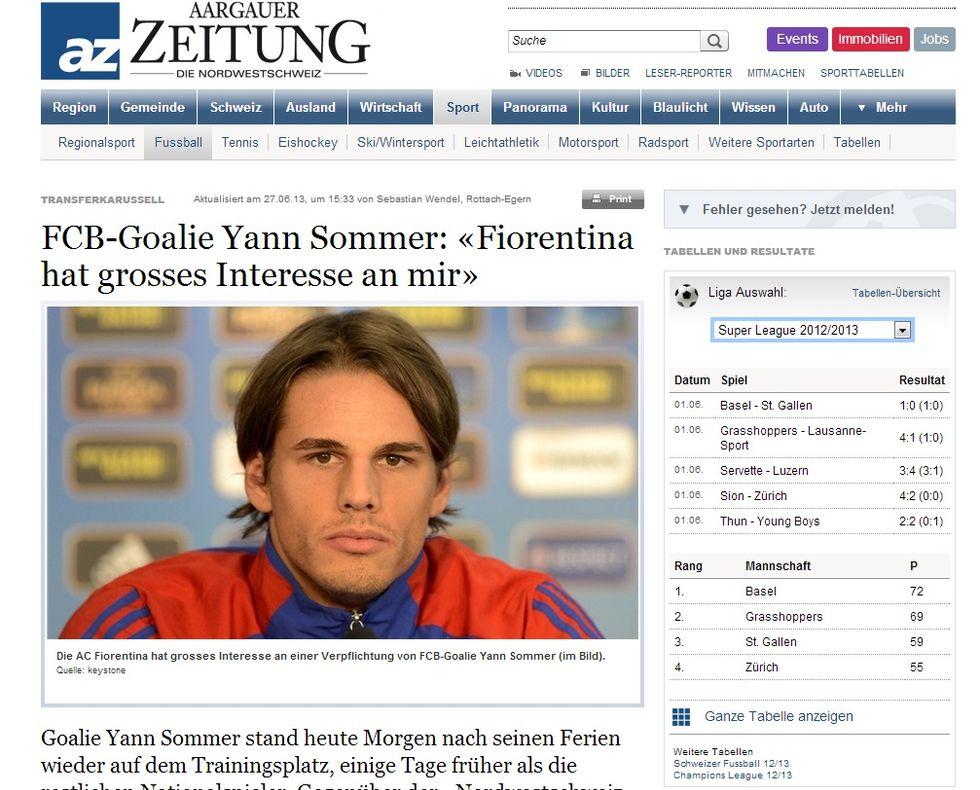 Yan Sommer: 'La Fiorentina mi vuole'