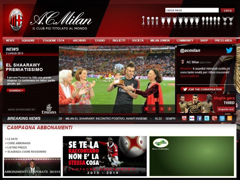 "Il Milan blinda El Sharaawy: ""Avanti insieme"""
