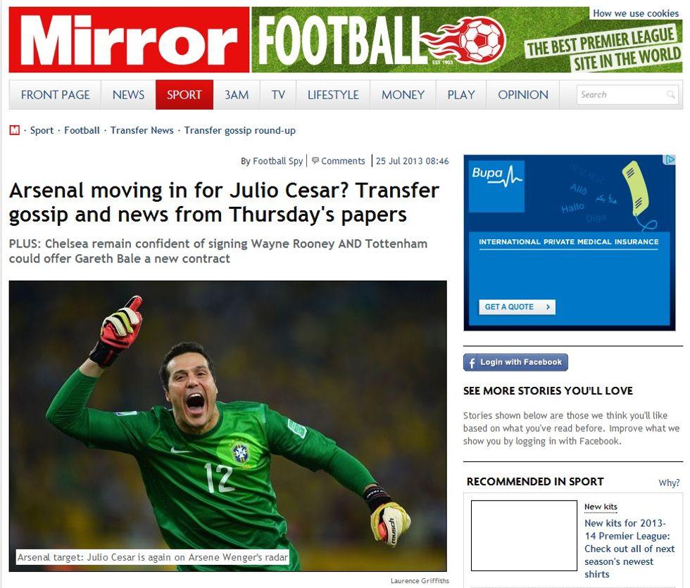 Fiorentina - Julio Cesar: il punto sulla trattativa