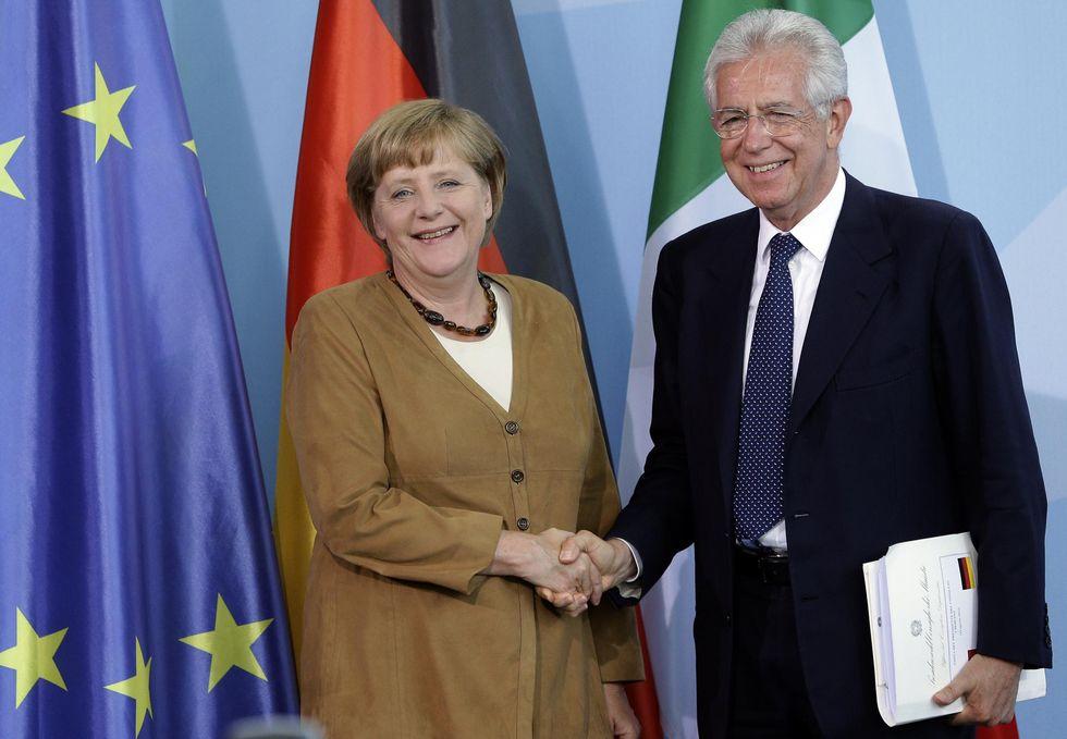 Monti-Merkel, il giorno dopo: adesso solo una licenza bancaria li divide