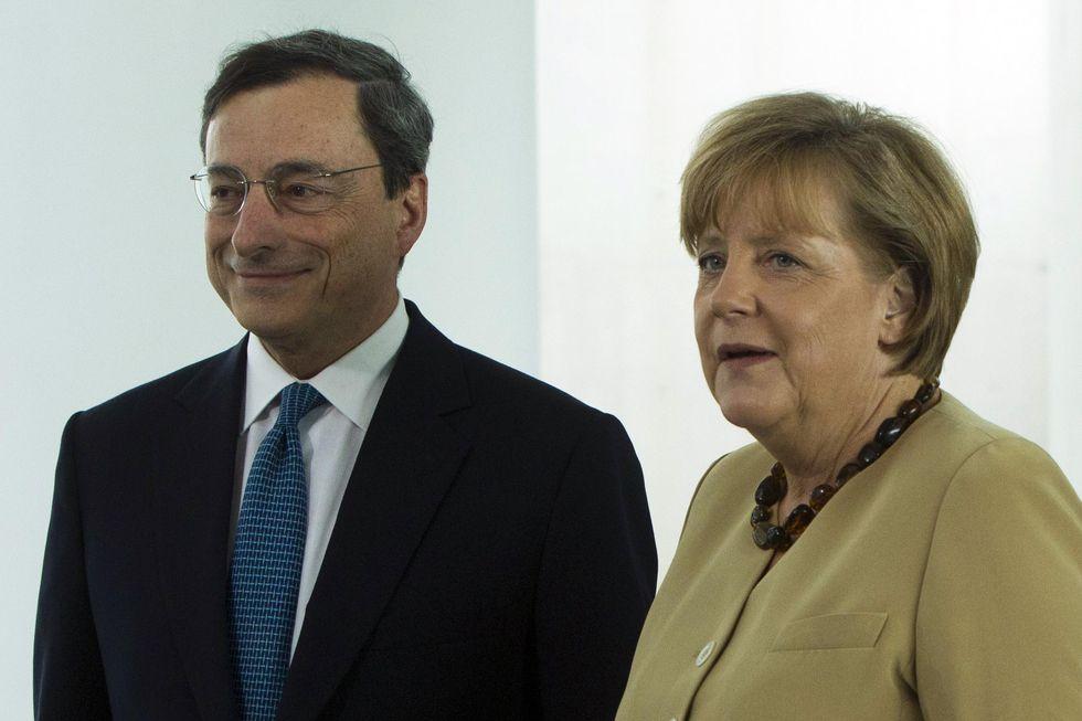 Crisi: l'Europa spera nell'asse Draghi-Merkel